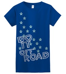 Do It Off-Road Jeep Tee for Women/Juniors, Blue
