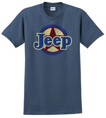 "Classic ""Jeep Star"" Unisex Indigo Blue Short Sleeved Shirt"