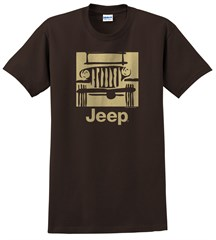 "Traditional ""Camp Jeep Logo"" Men's T-Shirt - Brown"