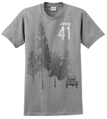 "CLOSEOUT - Jeep 41 ""Grey Forest"" Men's Tee-Shirt"