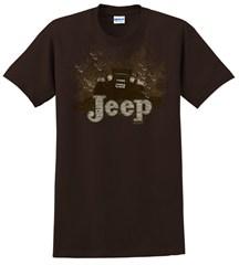 "Jeep ""Mudbogging Jeep"" Men's Brown Tee Shirt"