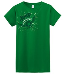 CLOSEOUT - Jeep Attitude Green Tee, Junior-Sized