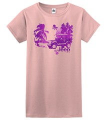 Tropical Jeep Beach Women's Tee (Junior Size)