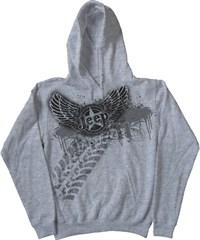 """Jeep Hooded Sweatshirt """"Rock -N- Roll Jeep Style"""" Grey Fleece"""