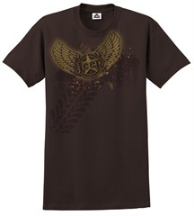 CLOSEOUT (Small Only) - Jeep Wings + Tire Tread Men's Brown Short Sleeve Tee