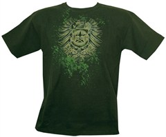 CLOSEOUT (XL Only) - Jeep Emblem with Bird, Military Green T-Shirt