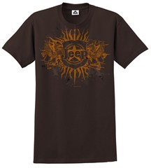 CLOSEOUT - Jeep Tee, Brown Badge & Dragons, Men's Shirt