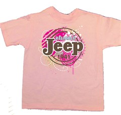 Jeep Kids Pink T-shirt , Jeep Bubbles