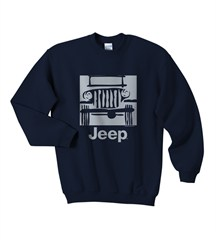 "Jeep Youth Sweatshirt ""Camp Jeep Logo"" Blue Crewneck"
