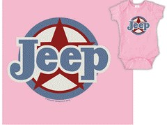CLOSEOUT - Jeep Infant / Baby Traditional Jeep Star Creeper w/Snaps