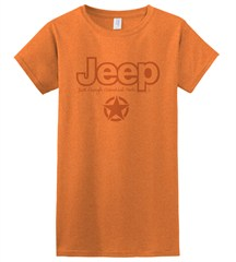 Jeep - Just Enough Essential Parts, Junior-Sized Orange Ringer Tee