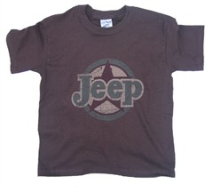"Youth ""Jeep Circle/Star"" Tee (brown/short sleeve)"