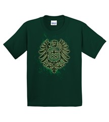 Jeep Emblem with Bird, Green KIDS T-Shirt