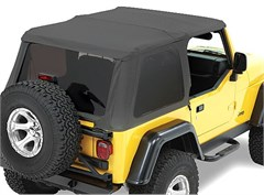Bestop Trektop NX Frameless Soft Top w/Tint Windows TJ 1997-2006 Black Denim