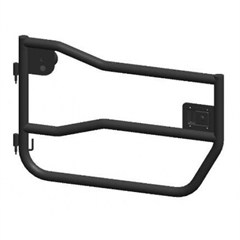 Tube Doors Front, Pair, Rugged Ridge, Jeep Wrangler JK (2007-2014) 2-Door Or 4-Door, Textured Black