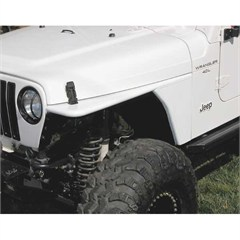 UPGRADE FLAT FENDER FLAT PAIR JEEP TJ 97-06 WITH INNER, PRIMER, PAIR