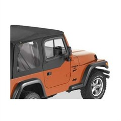 Upper Door Slider from Bestop for Jeep Wrangler TJ in Black Denim
