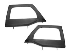 Upper Soft Doors, Front Pair, Rugged Ridge, Jeep Wrangler JK (2007-2014), Black