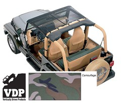 KoolBreez Mesh Camo Brief Top Jeep Wrangler TJ & LJ 1997-2006 by VDP