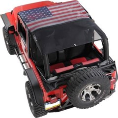 KoolBreez Sun Screen Jeep Full-Length Summer Top - American Flag Style