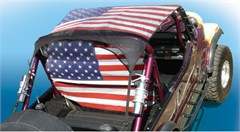 WindStopper Jeep Wind Screen, American Flag, Fits '80-'96 Jeep CJ, YJ, TJ