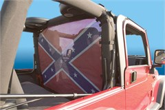 WindStopper Jeep Wind Screen, Confederate Flag, Fits '80-'96 Jeep CJ, YJ, TJ