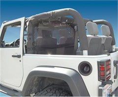 WindStopper Jeep Wind Screen, Black, 07-11 Wrangler JK 2 Door