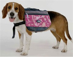 CLOSEOUT - Jeep Doggie Backpack, Pink Camouflage