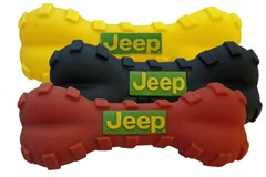 Jeep Dog Toy - Squeaky Vinyl Bone (assorted colors)
