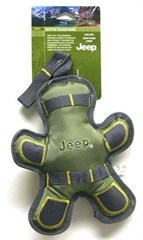 "Jeep Ruff'n Tough 10"" Green Man Dog Toy"