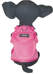 CLOSEOUT (Size Large Only) - Jeep Mesh Doggie Harness, Pink, for Small Dogs