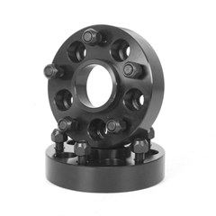 "Black Aluminum 1.375"" inch Wheel Spacer for Jeep Wrangler YJ (1987-1995), TJ (1997-2002), and Cherokee XJ (1984-2001)"