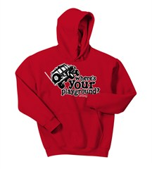 Where's Your Playground? Cherokee Kid's Hoodie Sweatshirt (Multiple Colors)
