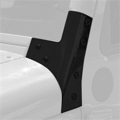 Windshield Hinge Brackets, Jeep Wrangler JK (2007-2014), Pair, Black Powder Coat