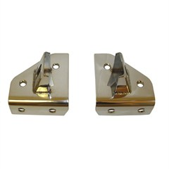 WINDSHIELD HINGE LIGHT BRACKET SET, JEEP CJ & YJ