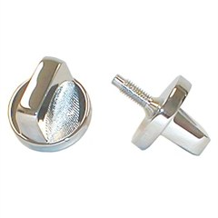 Jeep CJ & YJ Chrome Windshield Knobs (Set)
