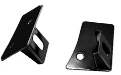 Windshield Mount Light Brackets, Jeep JK (2007-2014), Black