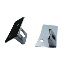 WINDSHIELD MOUNT LIGHT BRACKET PAIR STAINLESS JK JEEP WRANGLER (2007-2014)