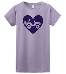 """Heart Wrangler"" Juniors Short Sleeved Shirt in Purple"