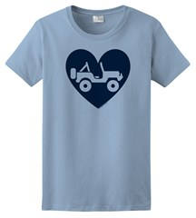 """Heart Wrangler"" Womens Short Sleeved Shirt in Blue"