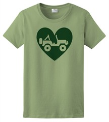 """Heart Wrangler"" Womens Short Sleeved Shirt in Green"