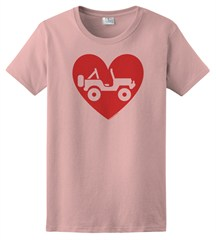 """Heart Wrangler"" Womens Short Sleeved Shirt in Light Pink"