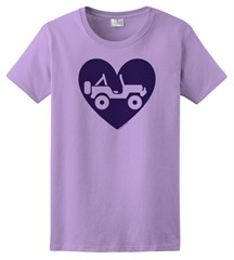 """Heart Wrangler"" Womens Short Sleeved Shirt in Purple"