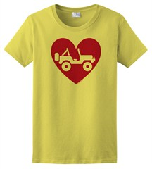 """Heart Wrangler"" Womens Short Sleeved Shirt in Yellow"