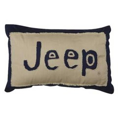 Throw Pillows Kmart : All Things Jeep - Jeep Logo Frayed Throw Pillow
